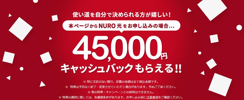 NURO光は公式がおすすめ