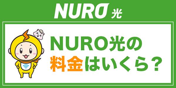 NURO光の料金は?