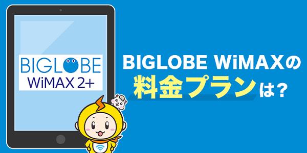 BIGLOBE WiMAXの料金プランやサービス