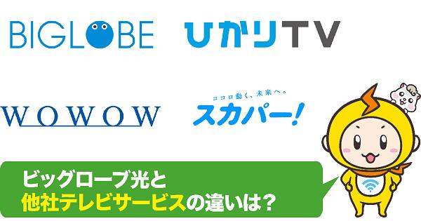 ビッグローブ光+他社テレビサービス