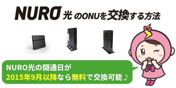 NURO光のONUを交換する方法
