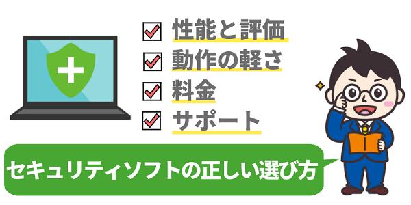 セキュリティソフトの正しい選び方