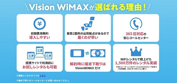 Vision WiMAXの特徴